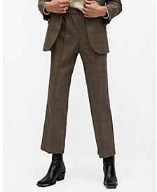 Women's Check Suit Pants