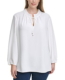 Plus Size Peasant Top