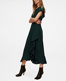 Women's Ruffled Midi Dress