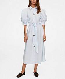 Women's Poplin Buttoned Dress