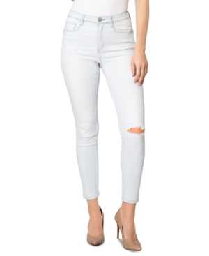 Juniors' High-Rise Ripped Skinny Jeans