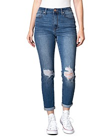 Juniors' High-Rise Mom Jeans