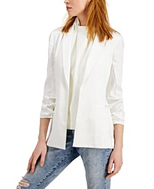 INC Satin Open-Front Blazer, Created for Macy's