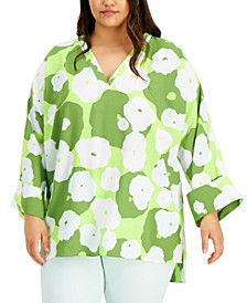 Plus Size Printed V-Neck Tunic, Created for Macy's