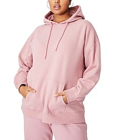 Trendy Plus Size Dad Maxi Peached Oversized Hoodie Sweater
