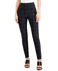 INC Bias Plaid Ponté-Knit Leggings, Created for Macy's