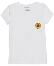 Juniors' Sunflower Graphic T-Shirt