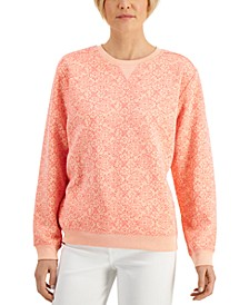Crewneck Printed Sweater, Created for Macy's