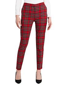 Tartan-Plaid Slim-Leg Pants, Created for Macy's