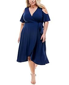 Trendy Plus Size Cold-Shoulder Fit & Flare Dress