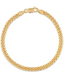 Curb Link Bracelet in 14k Gold-Plated Sterling, Created for Macy's