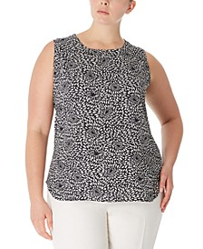Plus Size Printed Sleeveless Top