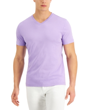 Club Room T-shirts MEN'S SOLID V-NECK T-SHIRT, CREATED FOR MACY'S