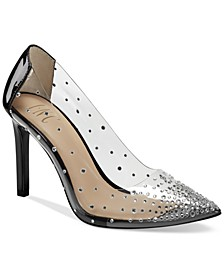 INC Katey Clear Vinyl Pumps, Created for Macy's