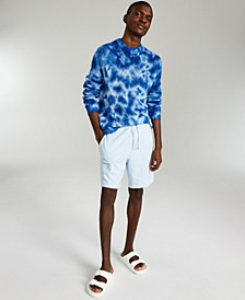 INC ONYX Men's Regular-Fit Open-Knit Tie-Dyed Sweater, Created for Macy's