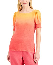 Linen Ombré Top, Created for Macy's