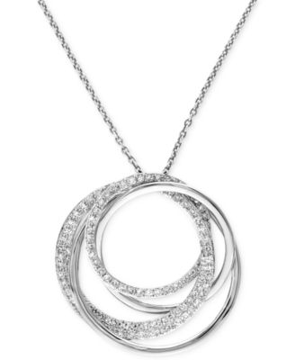 Effy collection pave classica by effy diamond circle pendant effy collection pave classica by effy diamond circle pendant necklace 38 ct tw in 14k white gold necklaces jewelry watches macys aloadofball Images