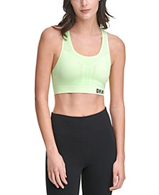 Sport Seamless Mesh-Back Mid-Impact Sports Bra