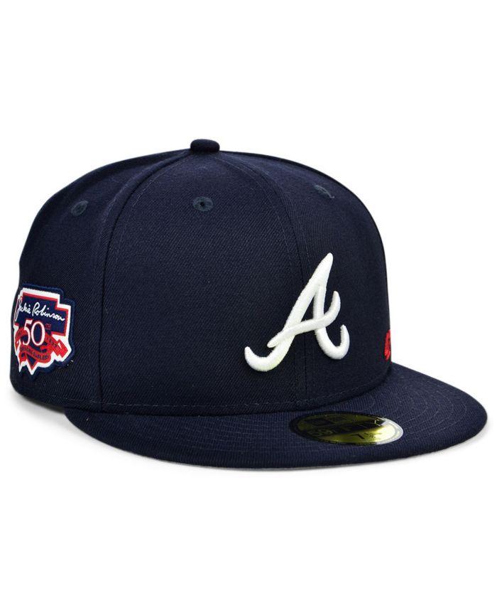 New Era Atlanta Braves Jackie Robinson 50th Patch 59FIFTY Cap & Reviews - MLB - Sports Fan Shop - Macy's