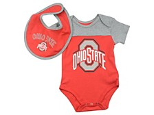 Ohio State Buckeyes Newborn Tackle Bib and Bootie Set