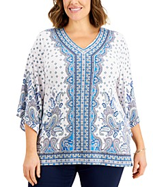 Plus Size Printed Top, Created for Macy's