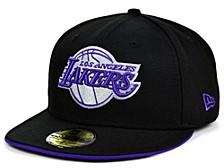 Los Angeles Lakers Black Gray Pop 59FIFTY Cap