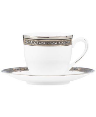 Vintage Jewel Espresso Cup and Saucer Set