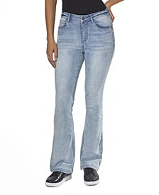 "Juniors' High Rise ""Lift Your Assets"" Flare Jeans"