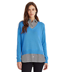 Lauren Ralph Lauren Layered-Look V-Neck Sweater