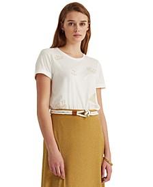 Embellished Nautical-Inspired T-Shirt