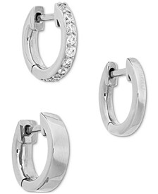 3-Pc. Cubic Zirconia Huggie Hoop Earrings
