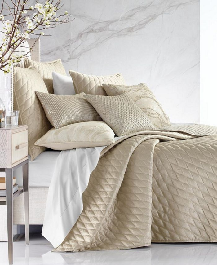 Hotel Collection - Moonstone King Coverlet, Created For Macy'S