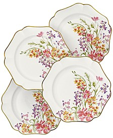 Easter Floral Salad Plates, Set of 4, Created for Macy's