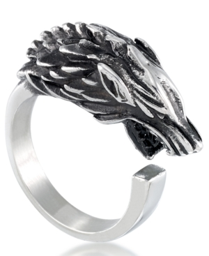 Men's Wolf Ring in Stainless Steel
