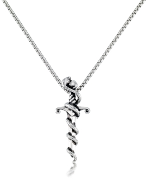 """Men's Serpent 24"""" Pendant Necklace in Stainless Steel"""