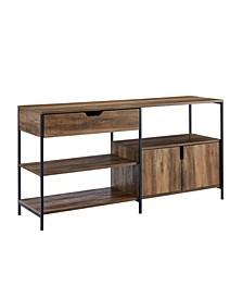 1 Drawer, 2 Door Storage Shelf