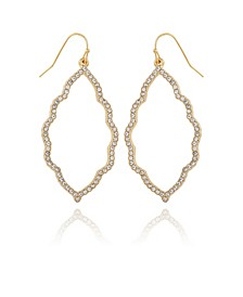 Women's Moroccan Pave Drop Earring