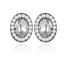 Women's Cubic Zirconia Oval Clip Earring
