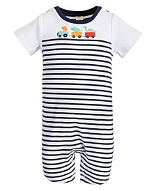 Baby Boys Dino Train Cotton Sunsuit, Created for Macy's