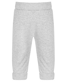 Baby Boys Heathered Yoga Pants, Created for Macy's