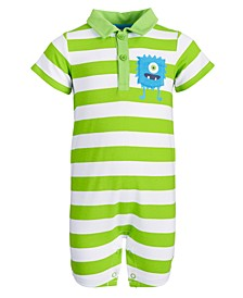 Baby Boys Monster Pocket Cotton Sunsuit, Created for Macy's