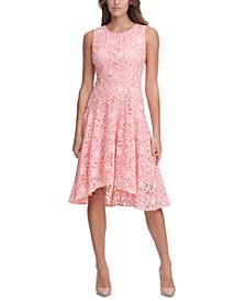 High-Low Floral Lace Dress