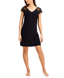 Lace-Sleeve Chemise Nightgown, Created for Macy's