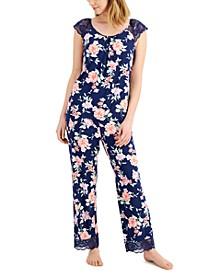 Lace-Trim Pajama Set, Created for Macy's