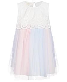 Toddler Girls Eyelet Tulle Dress Set, Created for Macy's