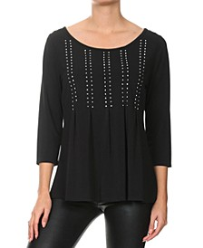 Rhinestone Embellished Top