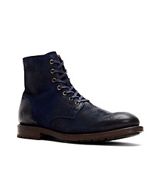 Men's Lace Up Boot with Inside Zip