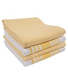 Madison Waffle Kitchen Towel, Set of 4