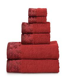 Wisteria Towel Set, 6 Piece