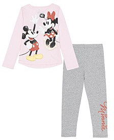 Toddler Girls Minnie 2 Piece Legging Set